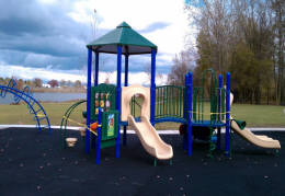 Green playground equipment