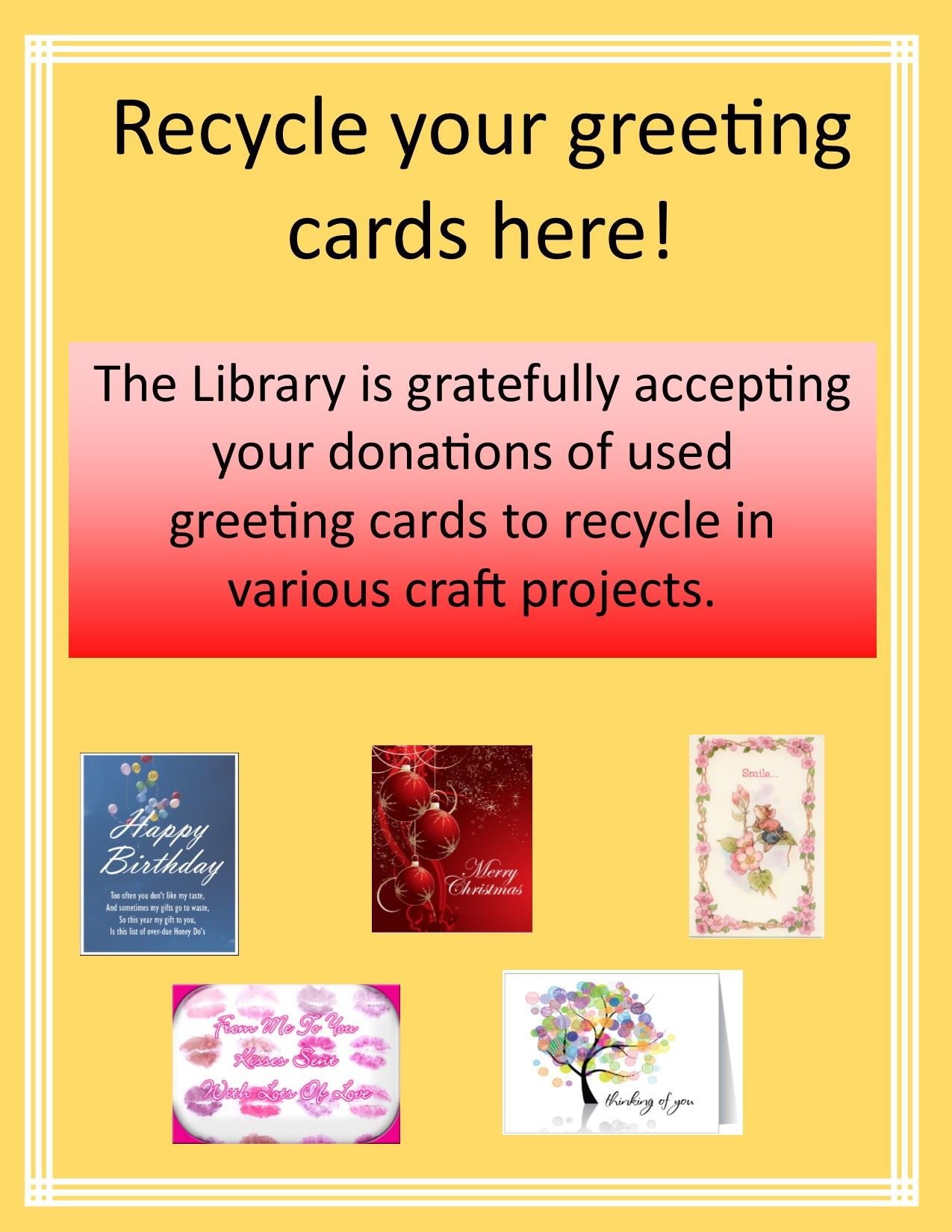 Recycled Greeting cards (general)